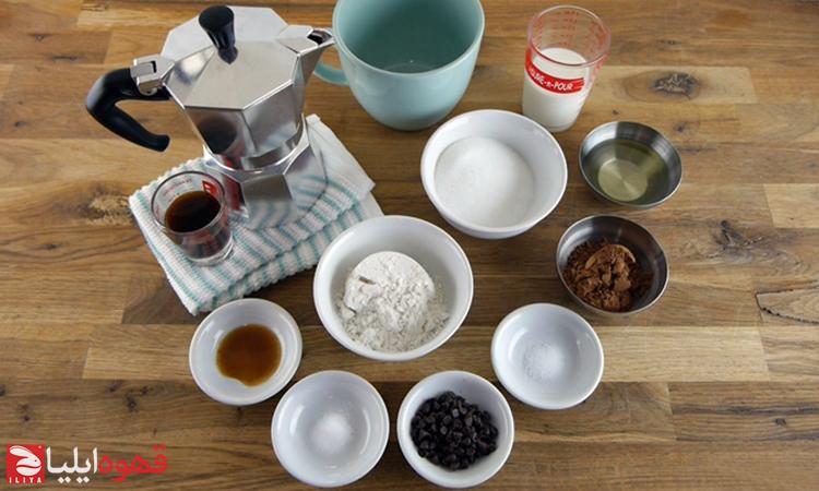 طرز تهیه کیک شکلات و اسپرسو داخل ماگ