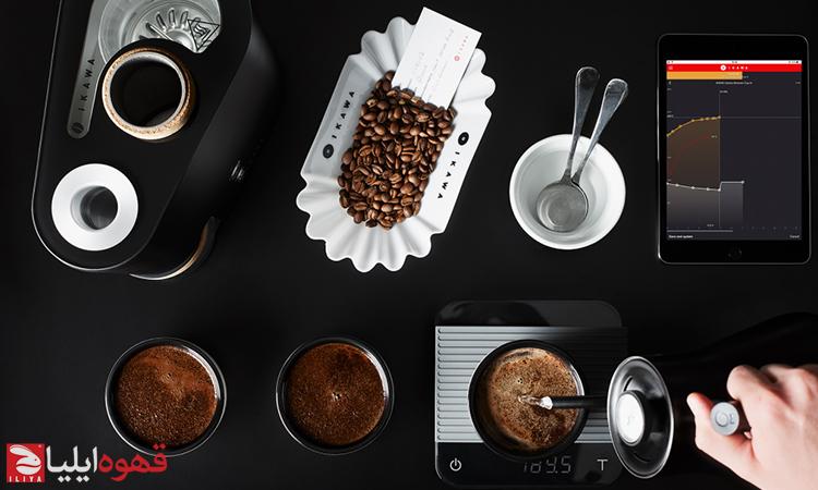 فرآیند رست نمونه قهوه