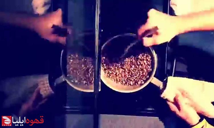 رست قهوه در ماهیتابه