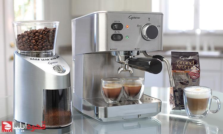 دستگاه اسپرسو ساز خانگی و آسیاب قهوه