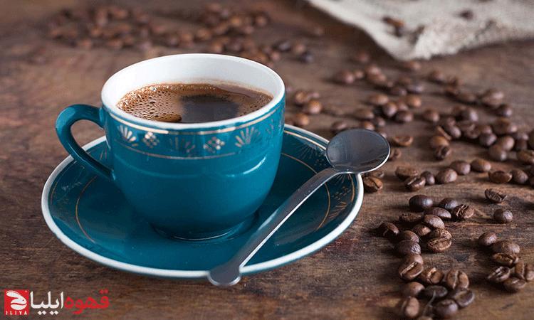 فنجان آبی قهوه