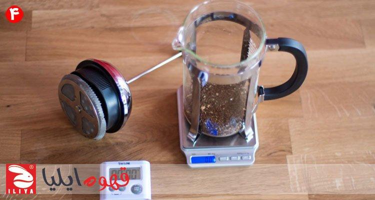 قهوه آسیاب شده در فرنچ پرس
