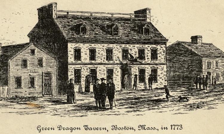 قهوه خانه گرین دراگون در بوستون