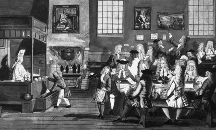 قهوه خانه در لندن قرن هفدهم