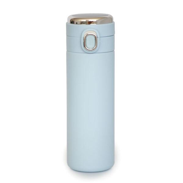 فلاسک هوشمند دماسنج دار آبی