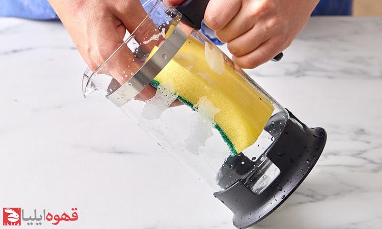 چگونه فرنچ پرس را تمیز کنیم ؟