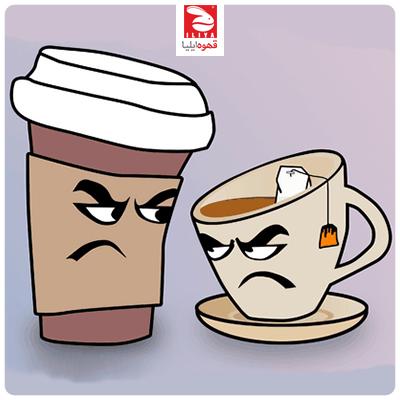 اینفوگرافیک : فواید سلامتی قهوه در برابر چای